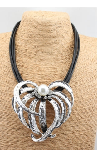 Statement Leather Necklace