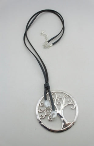 Leather Tree of Life Necklace