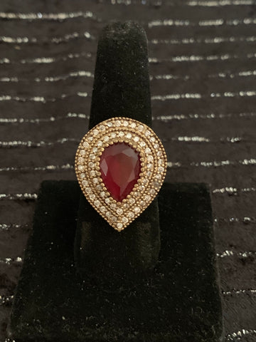 Sterling Silver ring 925 Garnet gemstone