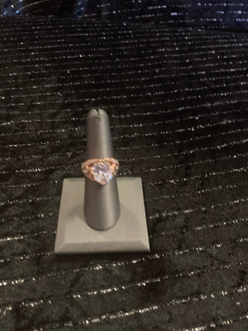 Rose gold ring Sterling Silver