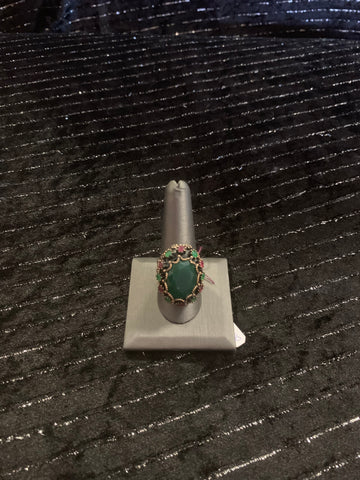 Sterling Silver Ring 925 with Gemstones