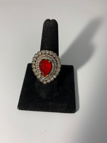 Ruby Red Gemstone Ring Size 9