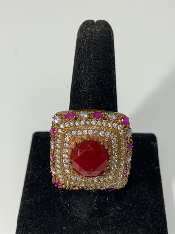 Red Ruby Gemstone Ring
