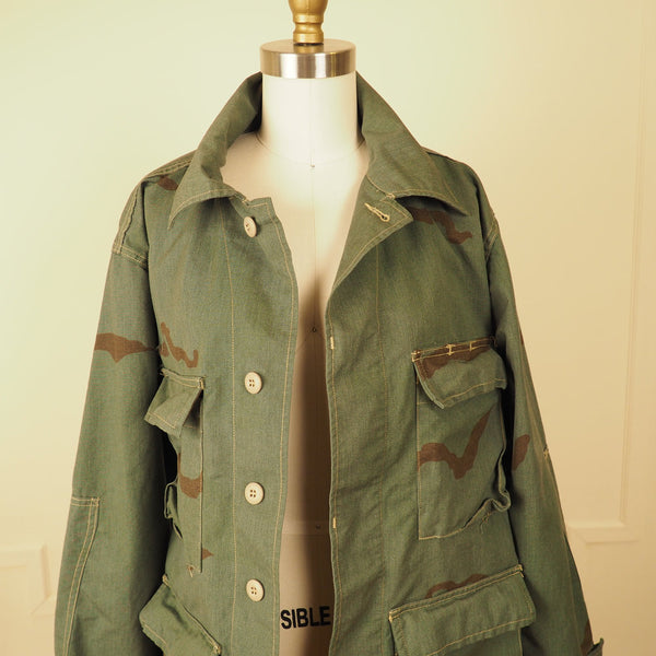 Washed Green Army Jacket