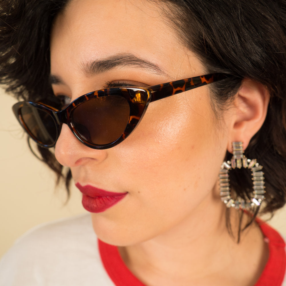 Tortoise Tiny Cat Eye Sunnies