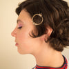Gold Circle of Stars Hair Clip