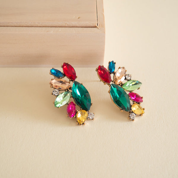 Bejeweled Cluster Earrings