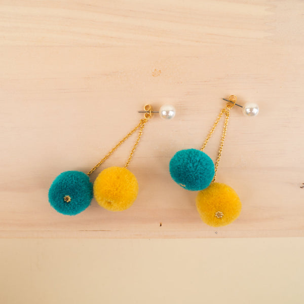 Dangling Pom Pom Shaker Earrings