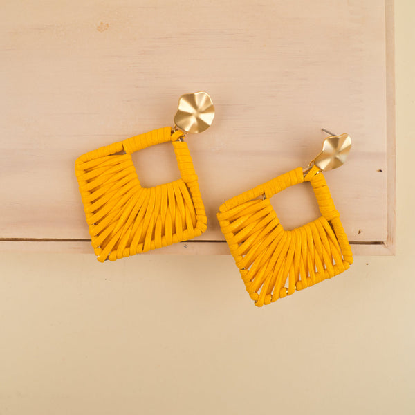 Braided Geometric Earrings