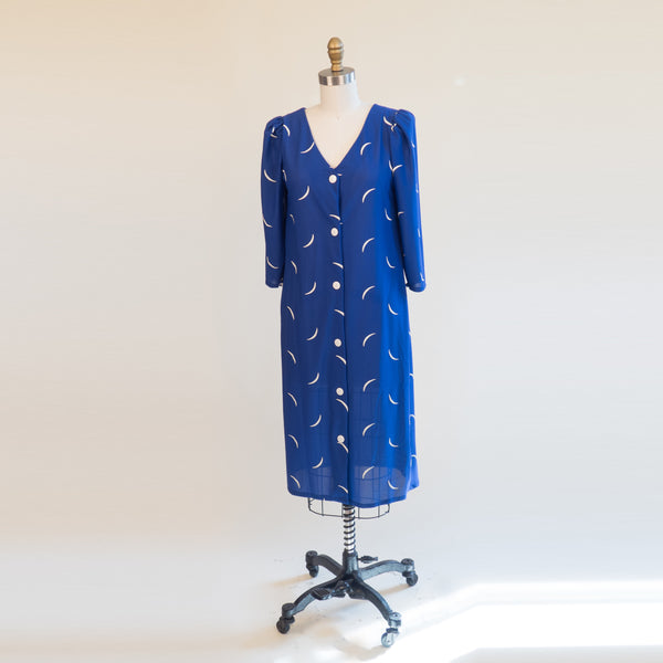 1980s Blue Shift Moon Dress