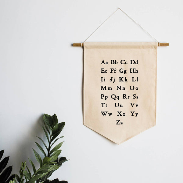Canvas Banner - Schoolhouse Alphabet