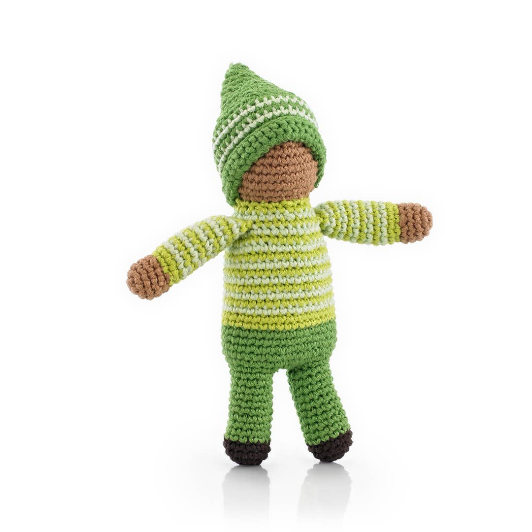 Pixie Rattle Doll - Fern