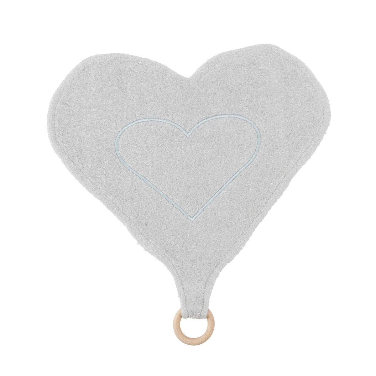 Heart Lovey with Teething Ring