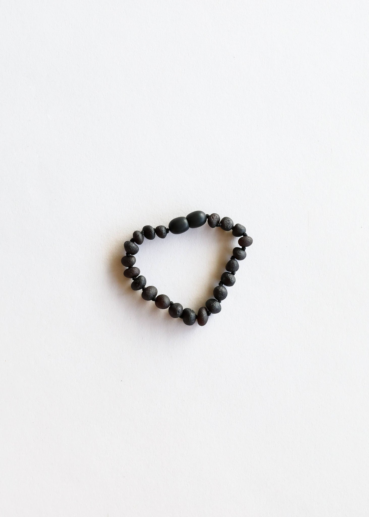 CanyonLeaf Children's Raw Black Amber Bracelet or Anklet