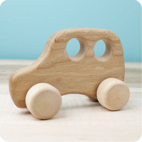 Wood Car Push Toy - Taxi