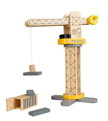 Wooden Lifting Crane Toy