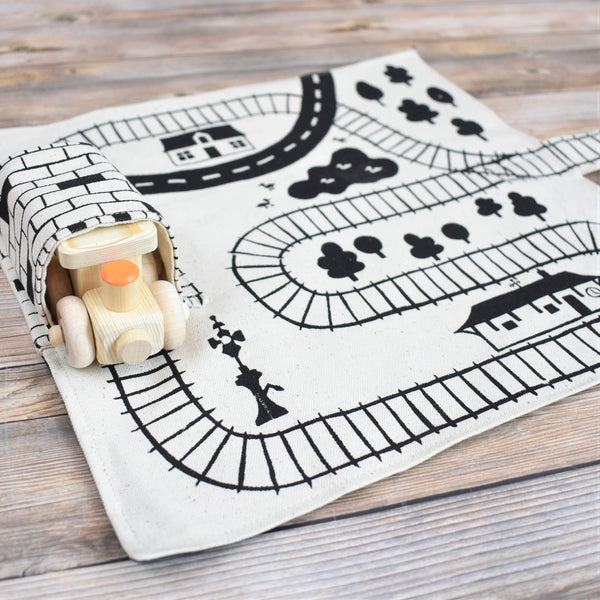 Train Playmat With One Train