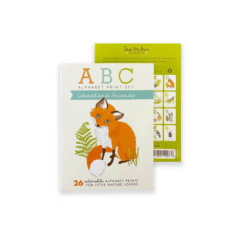 ABC Card Set - Woodland Friends