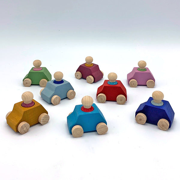 Pack of 8 Cars with Figures