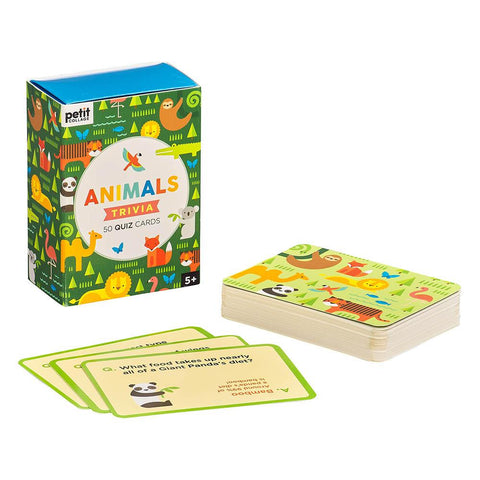 Petit Collage Animals Trivia Cards