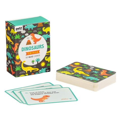 Petit Collage Dinosaur Trivia Quiz Cards