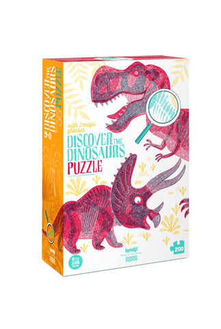 Discover the Dinosaurs (200 pcs) - Magic Glasses
