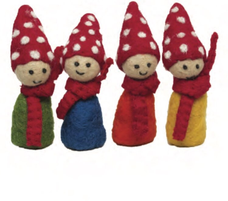 Papoose Finger Puppets - Gnomes