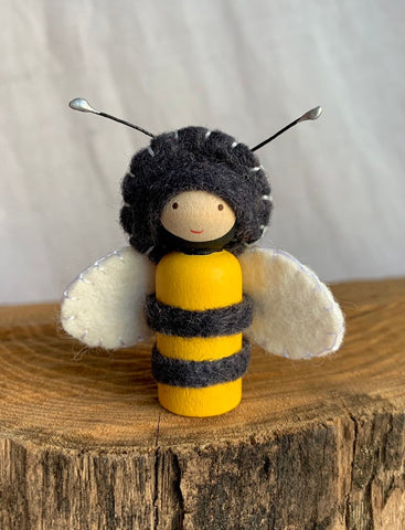 Honey Bee Peg Doll