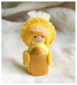 Baby Chick Peg Doll