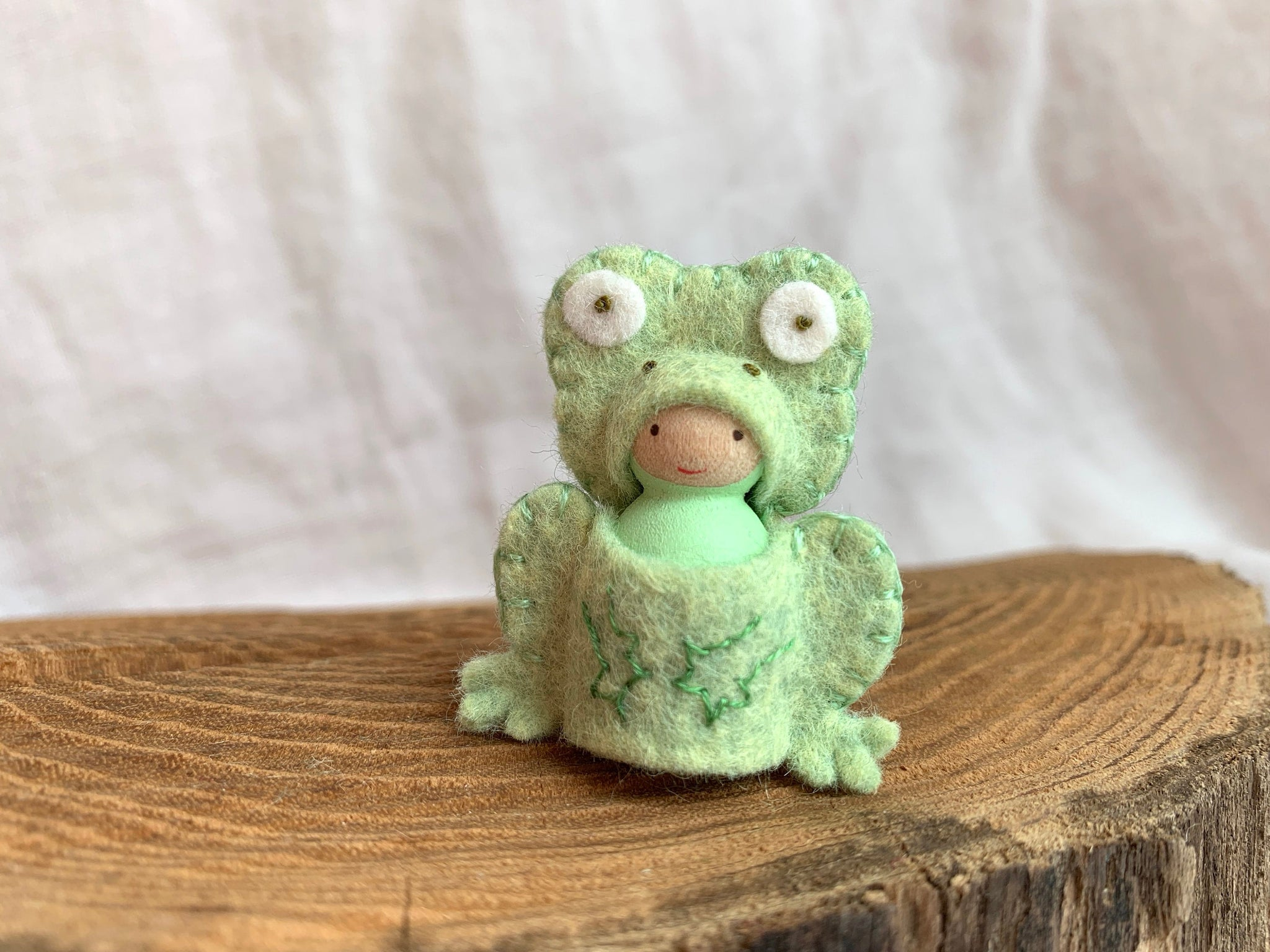 Little Frog Peg Doll