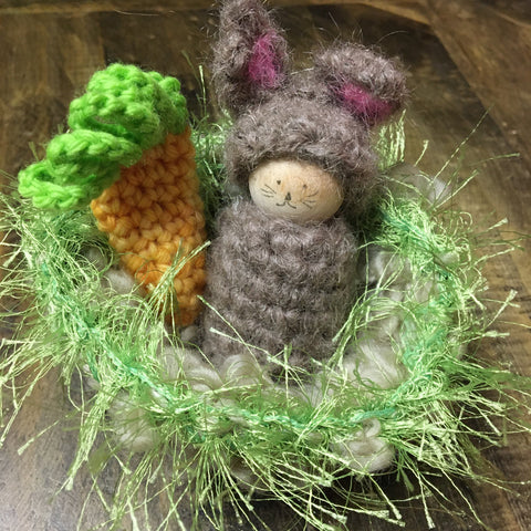 Bunny & Carrot in Nest