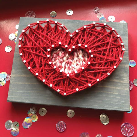 Inset Heart Mini String Art Kit - DIY