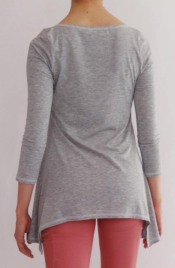 Blusa Lounge gris - COCOI.WS ropa yoga mujer
