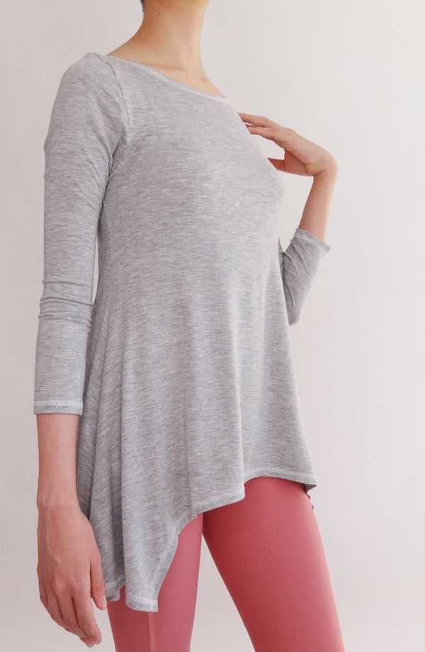 Blusa Lounge gris - COCOI.WS ropa casual mujer