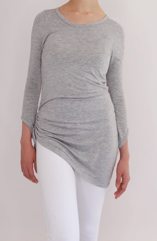 Blusón Bliss gris - COCOI.WS ropa yoga mujer