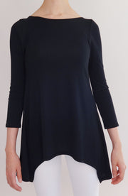 Blusa Lounge negra - COCOI.WS ropa yoga mujer