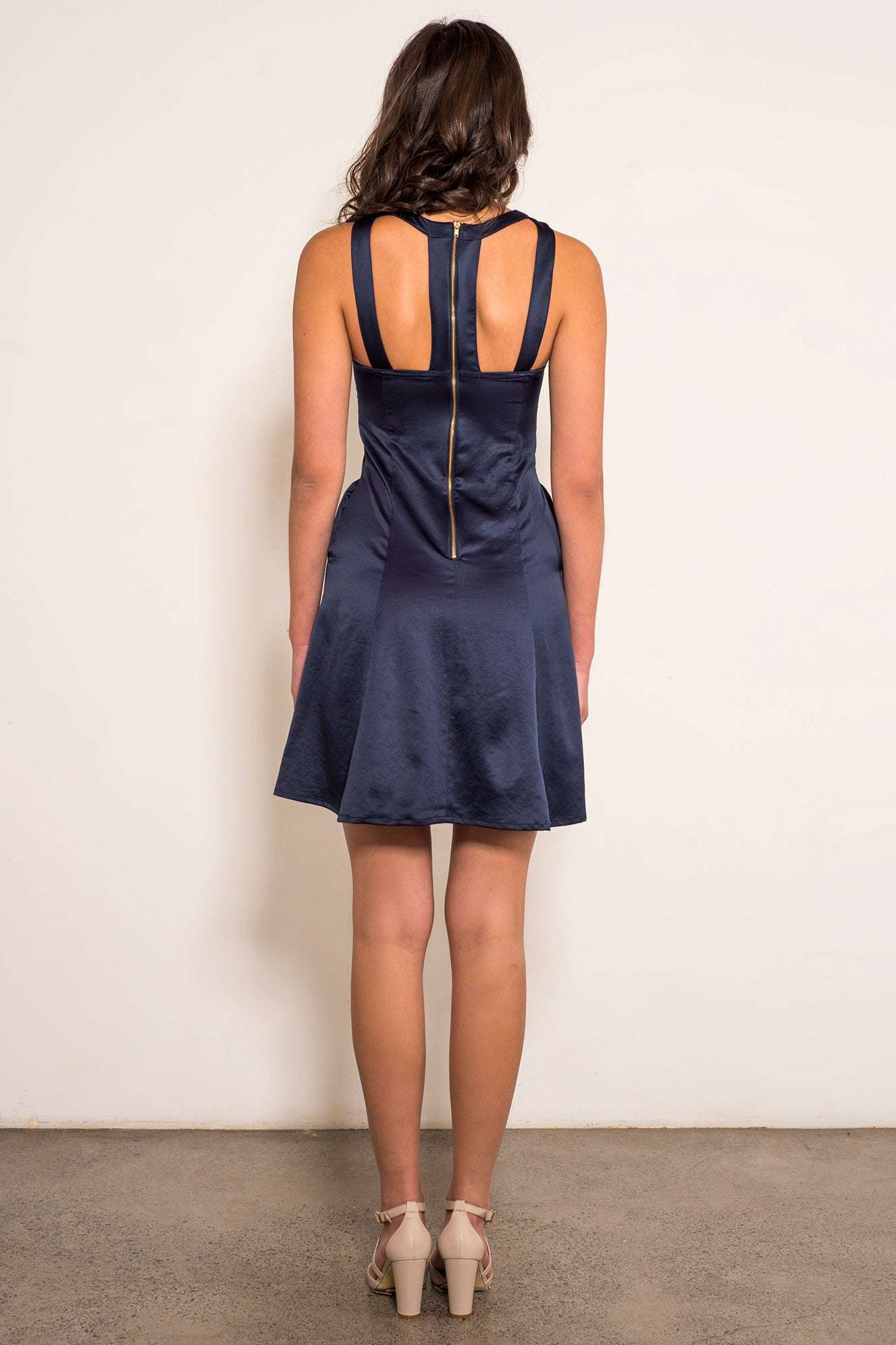 Daniella Dress-Navy