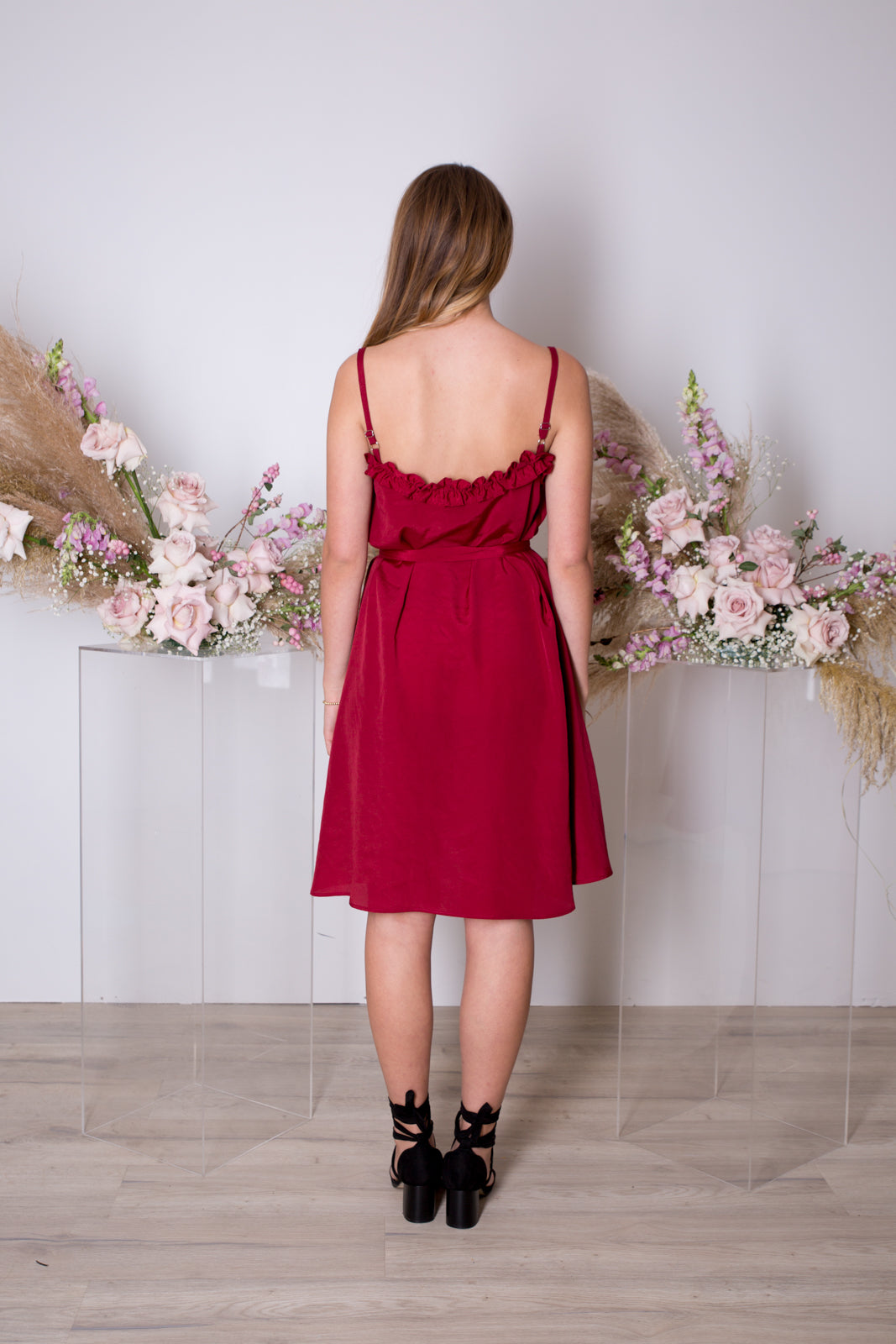 Sunday Dress-Maroon