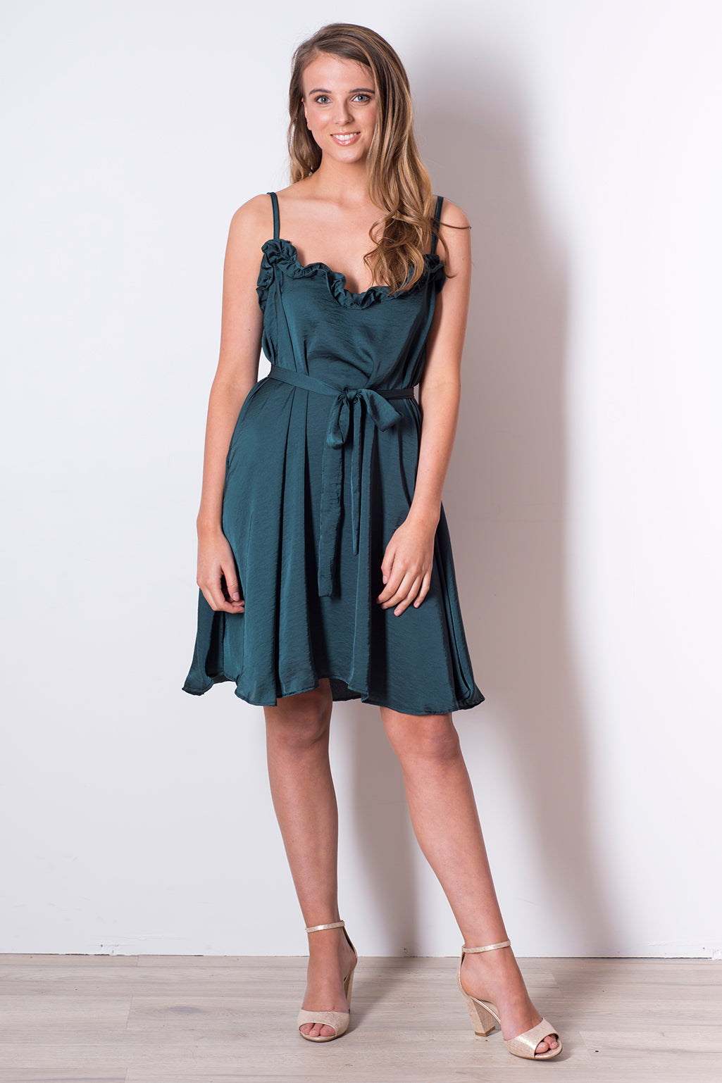Sunday Dress- Forest Green