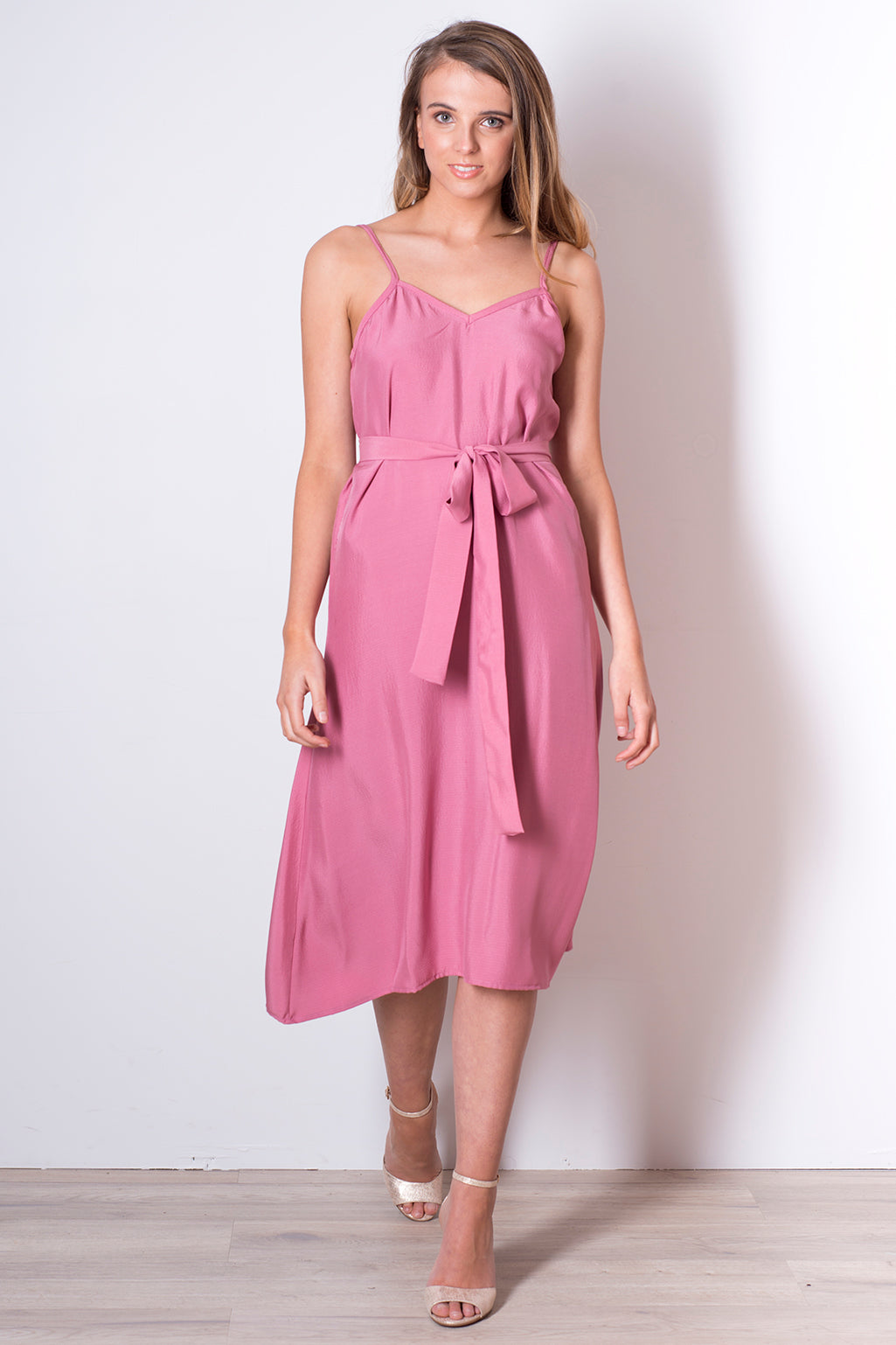 Hilary Dress - Berry Pink Silk