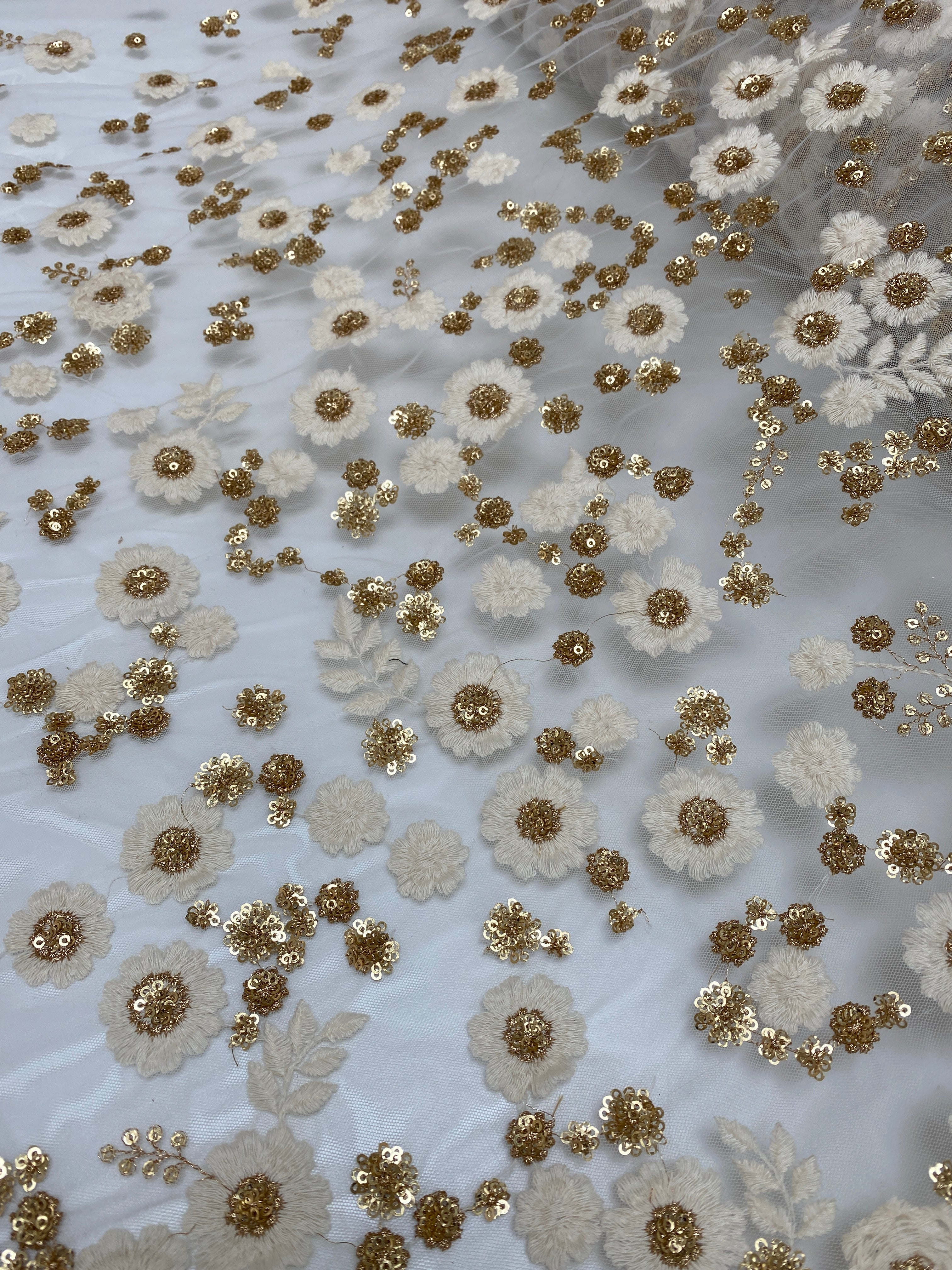Monarch -Gold & White Sequin