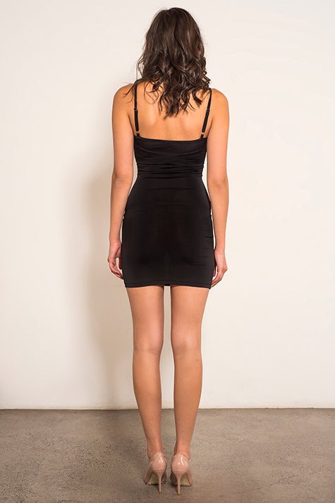 Black Slip-Scoop Neckline