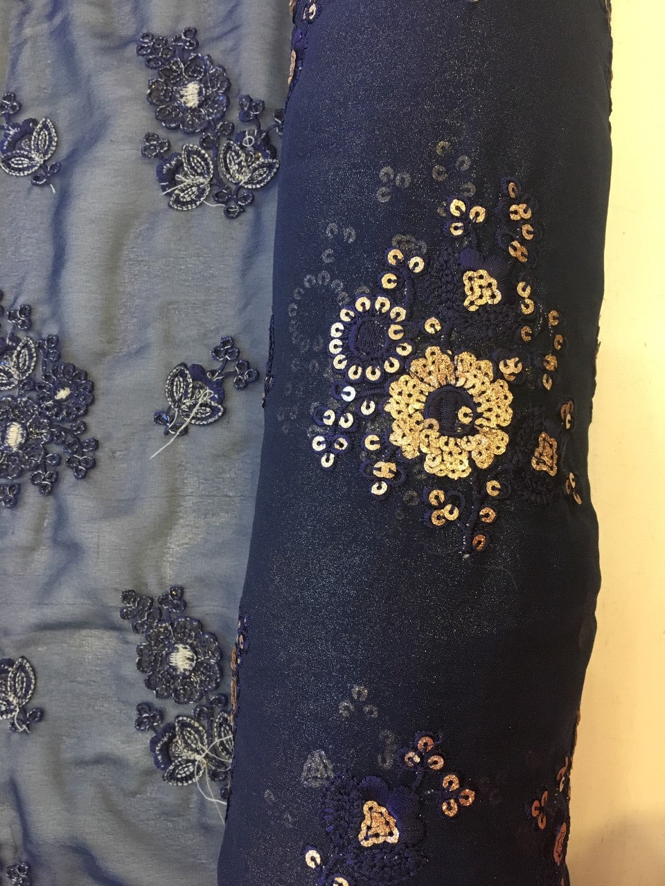 Natasha - Embroidered Lurex Fabric