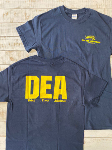 "Short Sleeve ""DEA"" (Drink Every Afternoon) T-shirt, Navy"