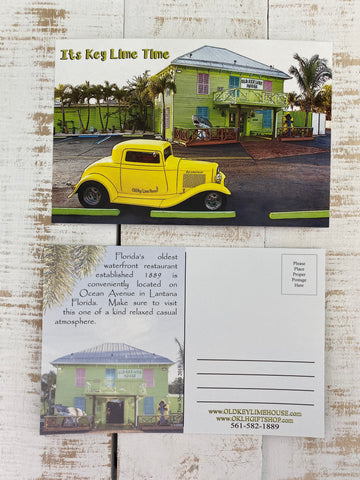 Old Key Lime House Postcard