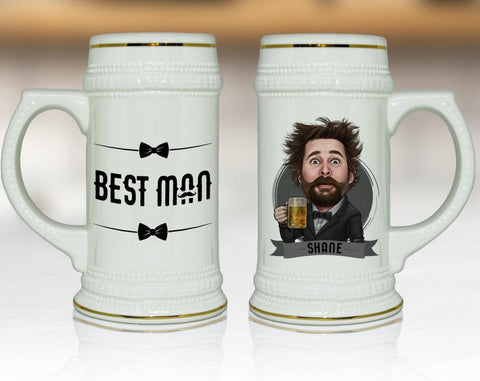 Beer Mug, Groomsmen Gift, Personalized Groomsmen Gift Ideas, - kov-well