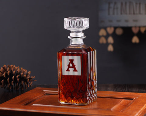 Unique Groomsman Gift, Customized Whiskey Decanter - kov-well