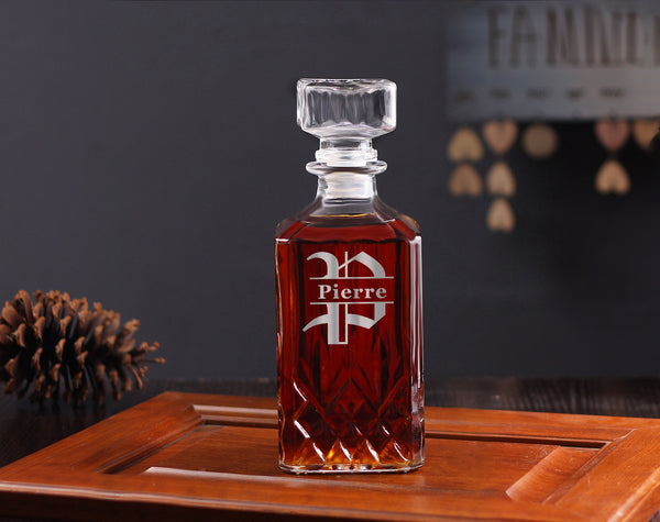 Customized Whiskey Decanter Gift Set for Groomsmen - kov-well