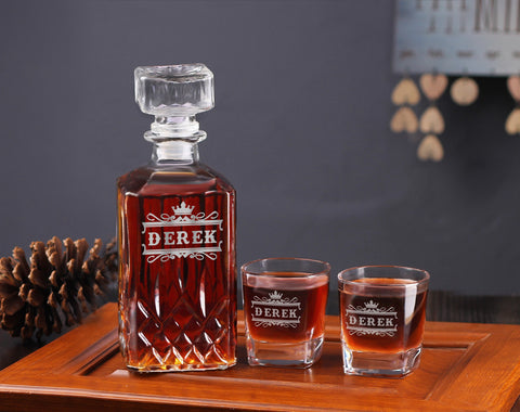 Engraved Whiskey Decanter Gift for Groomsmen, Best Groomsman Gift - kov-well