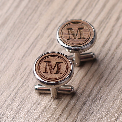 Personalized Cuff Links, Groomsmen Cuff links, Engraved Cuff links, Personalized Wedding Cufflinks - kov-well
